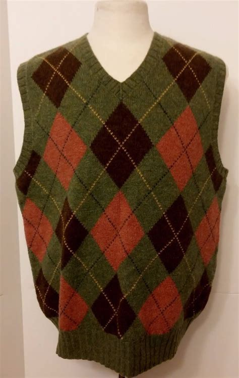Brown Argyle Sweater Vest - Baggage Clothing