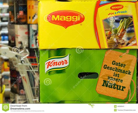 Maggi And Knorr Editorial Photo - Image: 40089941