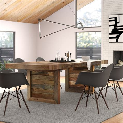 Triston Extendable Solid Wood Dining Table & Reviews