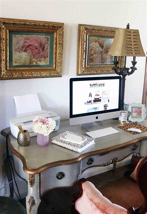 My French Inspired Desk, Fresh Flowers and Home Office