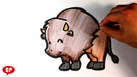 How to Draw a Buffalo ( Cute ) - Easy Pictures to Draw