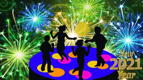 New Year's Eve 2021 Disco Music Dancing Celebration