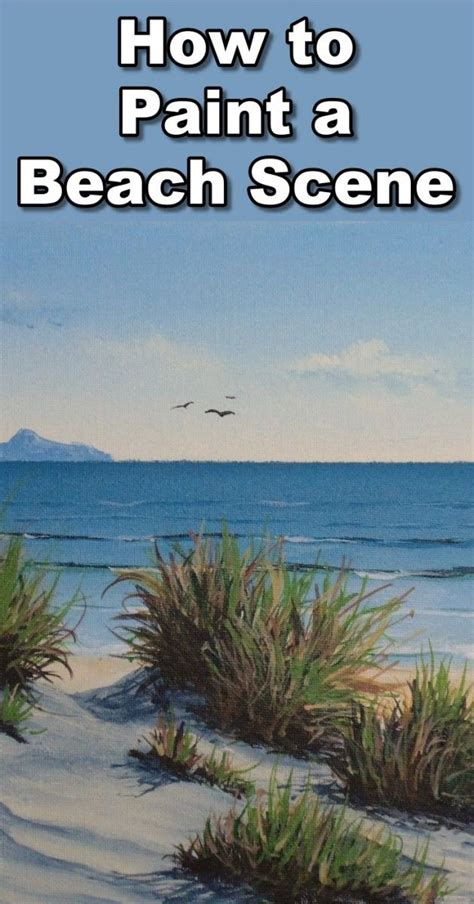 How to Paint the Sea in Acrylic   Beach scene painting