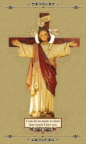 Our Lady of Good Success and the Christ Child crucified on