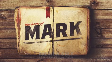 The Book of Mark - Title Graphics | Ministry Pass